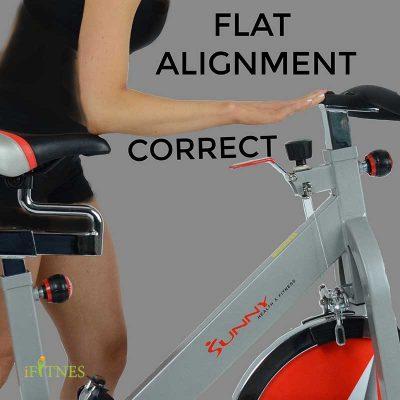 تنظیمات آسان دوچرخه ثابت قبل از تمرین