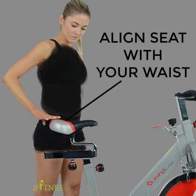 تنظیم دوچرخه ثابت قبل از تمرین