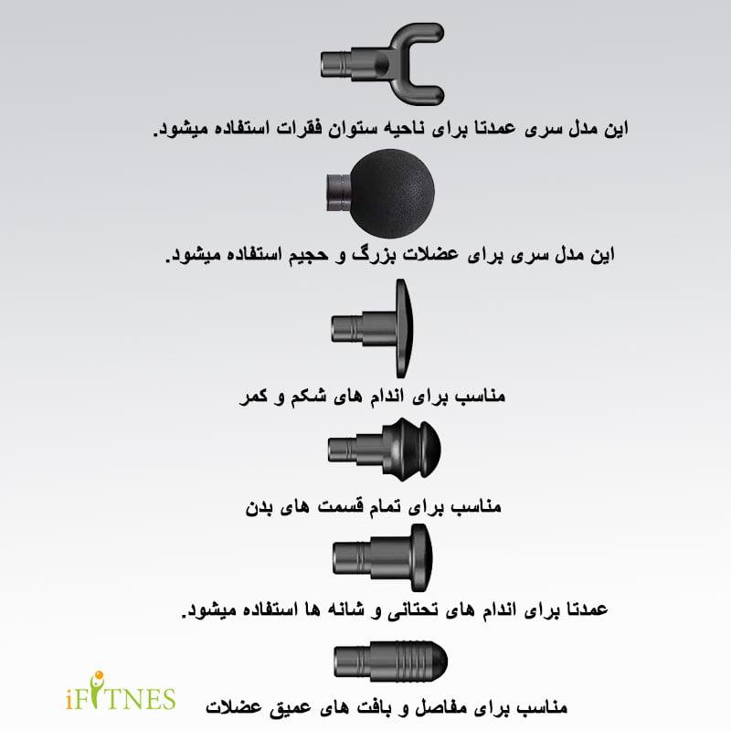 مشخصات و خرید ماساژور تفنگی RT 1052