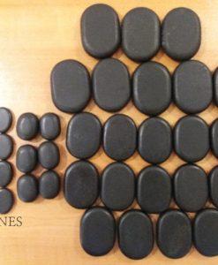 Pieces massage stones set 36 3